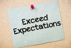Exceeding Expectations — My three-step approach