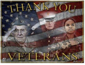 We honor our Military, past, present & future