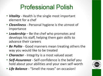 Professional Polish Chart